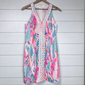 Lilly Pulitzer Lynn Shift Dress Out to Sea 4